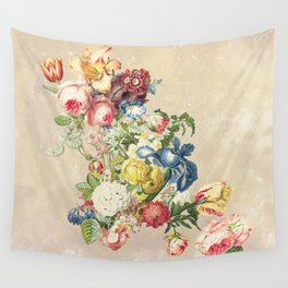 Floral tribute to Louis McNeice (Light) Wall Tapestry