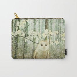 Barn Owl in Snowy Winter Woodland Carry-All Pouch