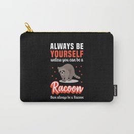 Funny Racoon / Raccoon Halloween Costume Carry-All Pouch
