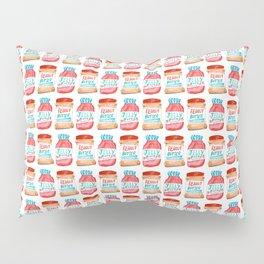 Peanut Butter & Jelly Watercolor Pillow Sham