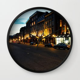 Montreal Downtown - October 20th 2014 Wall Clock