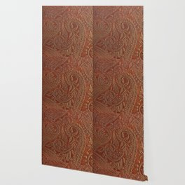 Rusty Tooled Leather Wallpaper