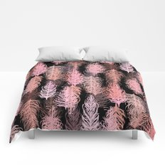 Feathered Blush Noir Comforters