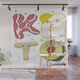 Keto Ketogen Ketone No Carb Diet Avocado Fat Gift Wall Mural