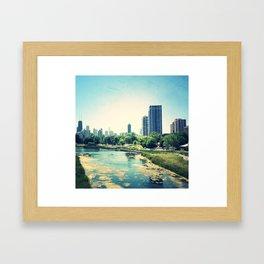 Pond Inside Concrete Jungle  Framed Art Print