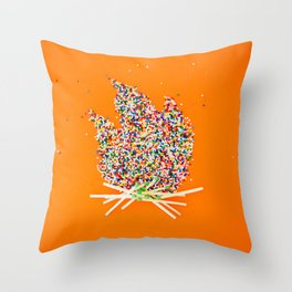 Candy Campfire Throw Pillow