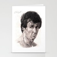 rocky Stationery Cards featuring Rocky by Sketchy_Chris
