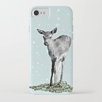 bambi iPhone & iPod Cases featuring Bambi by Monika Strigel