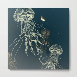 Jellyfish abduction Metal Print