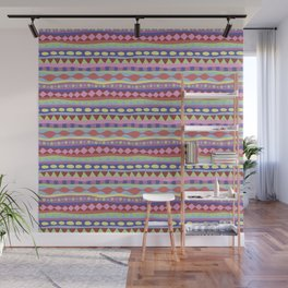 Stripey-Coolio Colors Wall Mural