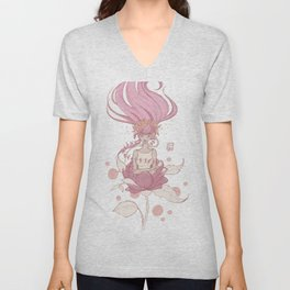 born from a rose Unisex V-Neck