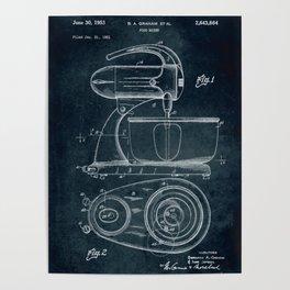 1951 - Food mixer patent art Poster