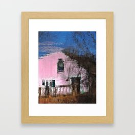 Little Pink House Framed Art Print