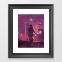 MORNING DRONE SWEEP (everyday 03.19.18) Framed Art Print