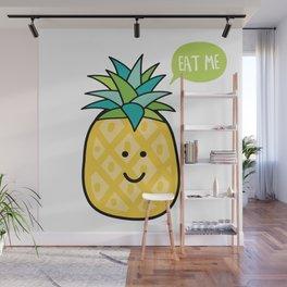 Cute Pinapple Wall Mural