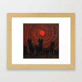Hyena Sundown Framed Art Print