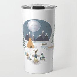 Camp Sleepy Moon (Large Print) Travel Mug