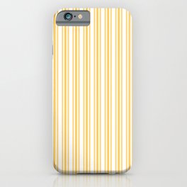 Trendy Large Yellow Butter French Mattress Ticking Double Stripes iPhone Case
