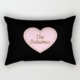 I Love The Bahamas Simple Heart Design Rectangular Pillow