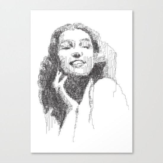 Rita Hayworth Portrait Canvas Print