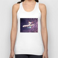 snowboarding Tank Tops featuring Snowboarding #2 by Bruce Stanfield