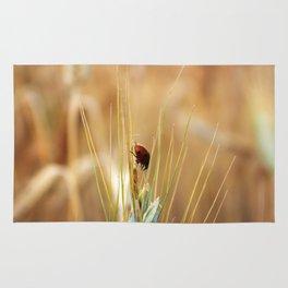 Ladybug macro Rug