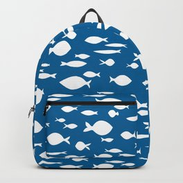 submarin fish in blue Backpack