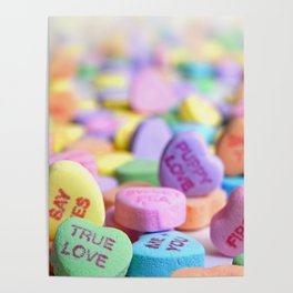 Valentine's Day Candy Hearts Poster