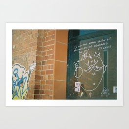 I sometimes wonder whether all pleasures are not substitutes for joy  Art Print