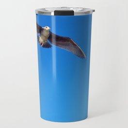 Seagull in Flight Travel Mug