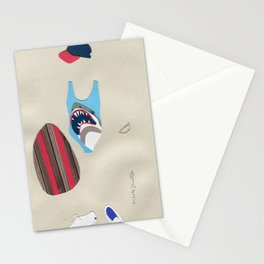 Shark Bathing Suit Outfit Stationery Cards