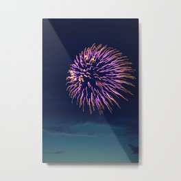 Purple Fireworks Metal Print