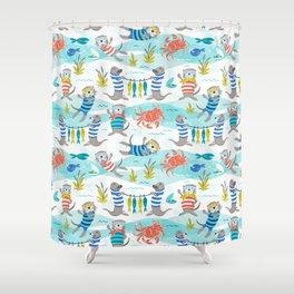 Otterly Fun Shower Curtain