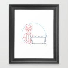 Coffee (lineart) Framed Art Print