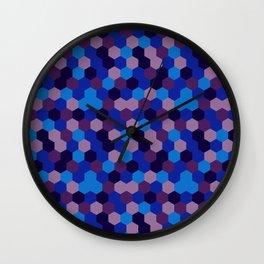 Hexagonal geometric pattern Wall Clock
