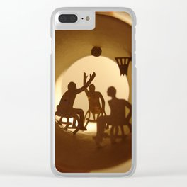 """Roll """"Basketball"""" Clear iPhone Case"""