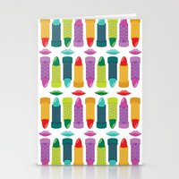 lipstick Stationery Cards featuring Lipstick by Piper Burke
