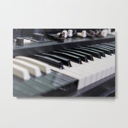 Keyboards Metal Print