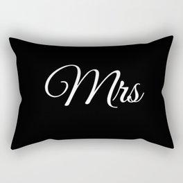 Mrs (Black) Rectangular Pillow