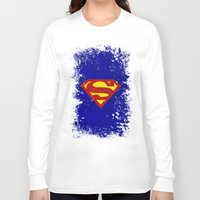 superman Long Sleeve T-shirts featuring Superman by Some_Designs