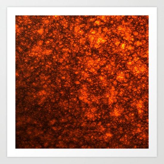 Molten Lava Art Print