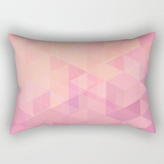 Geometric Pink  Rectangular Pillow