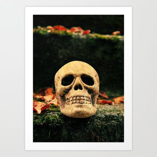 Stairway skull Art Print