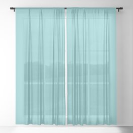 Peony Afternoon ~ Teal Sheer Curtain