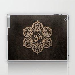 Aged Stone Lotus Flower Yoga Om Laptop & iPad Skin