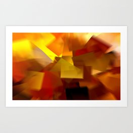 Cubistic Tendencies Art Print