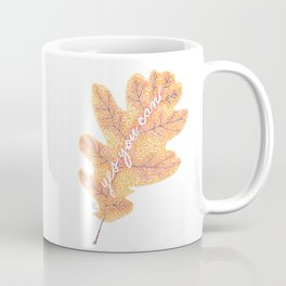 Yes You Can Pointillism Oak Leaf Painting Coffee Mug