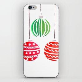 Christmat ornaments iPhone Skin
