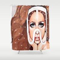 artpop Shower Curtains featuring ARTPOP by Anett Borges