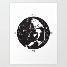 Symbols theme Art Print